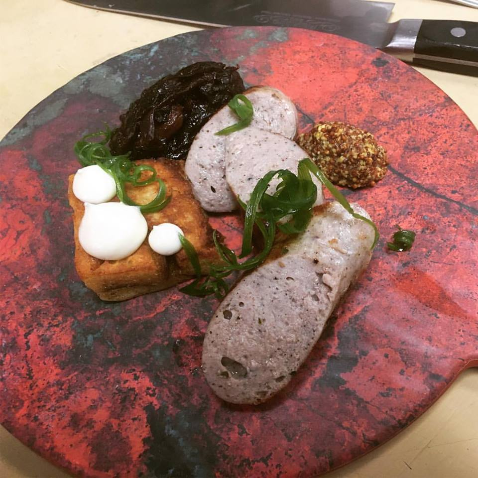 Cafe Bink sausage plate