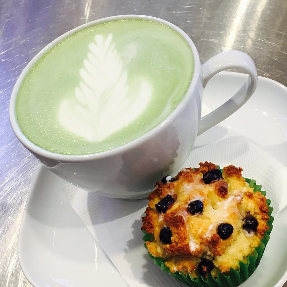 Carefree Coffee Roastery muffin and tea