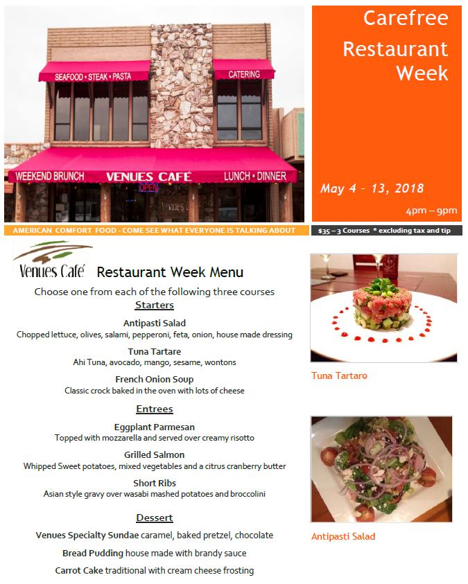 Venues Restaurant Week